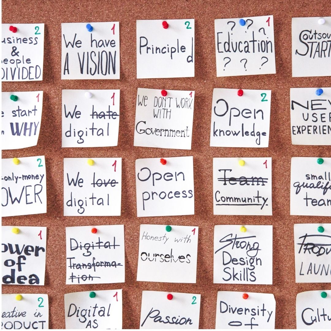 Time management using post it notes